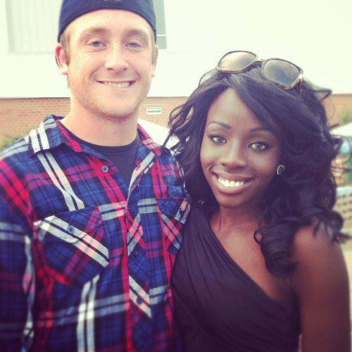 Cute Black girl and White Guy Couple