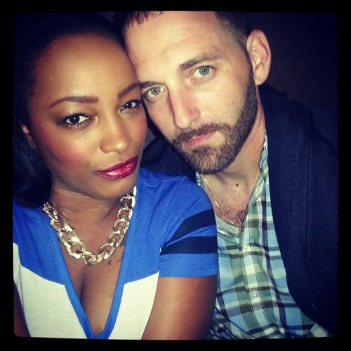 Black woman and white man couple