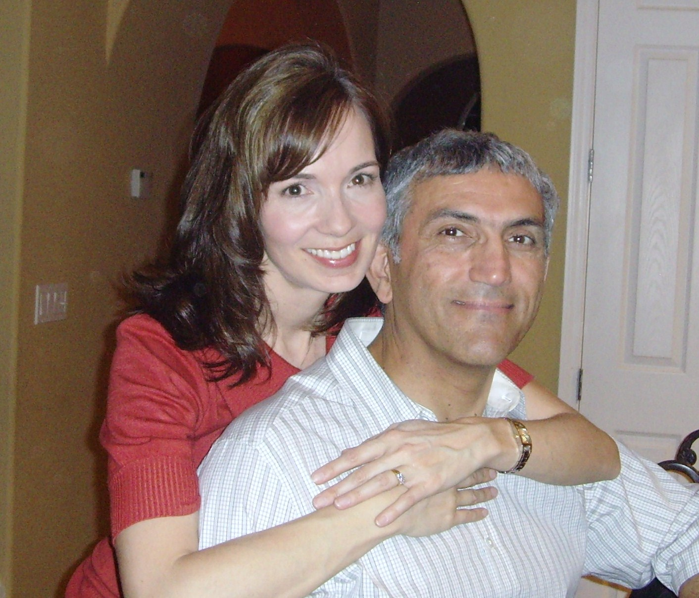 White and Iranian couple