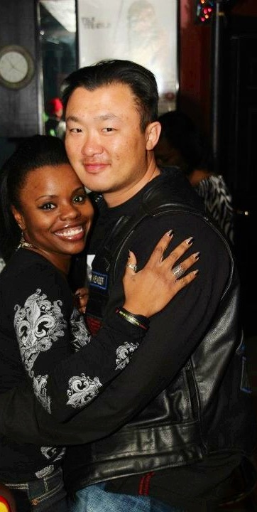 Asian male Black Female couple