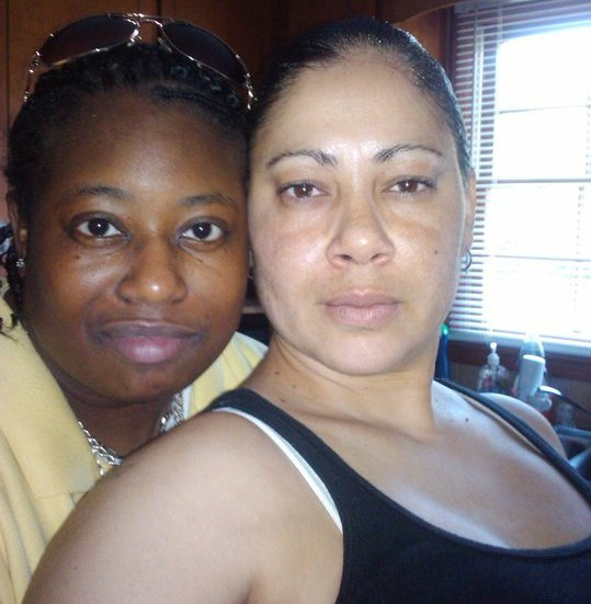 African American and Native American Lesbian couple