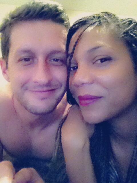 Caucasian and African American couple