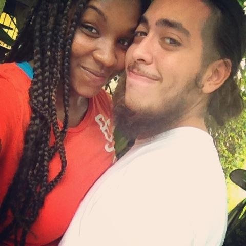 Black girl middle eastern Latino guy couple