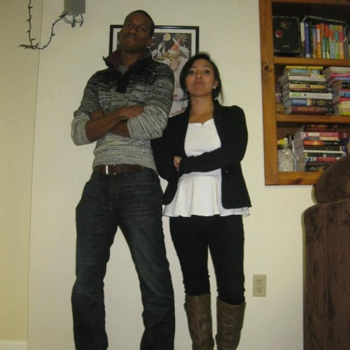 Tall Black BF Latino GF