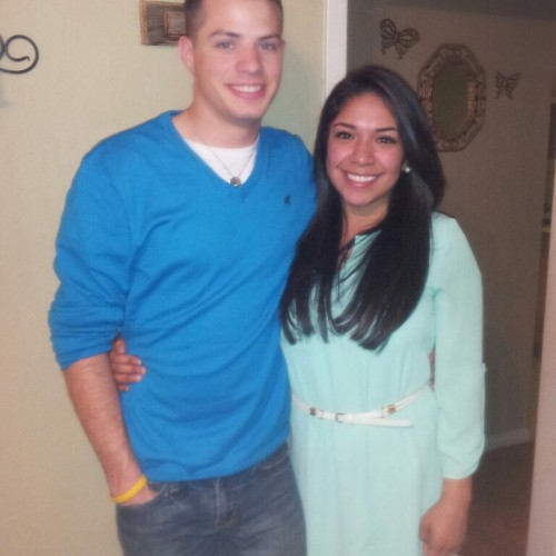 Caucasian and mexican-american couple