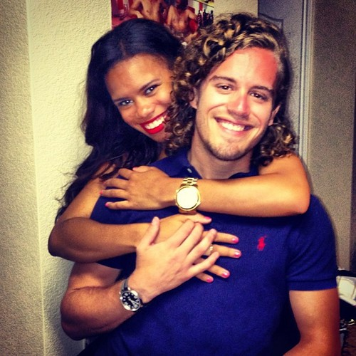Black girl and White guy couple